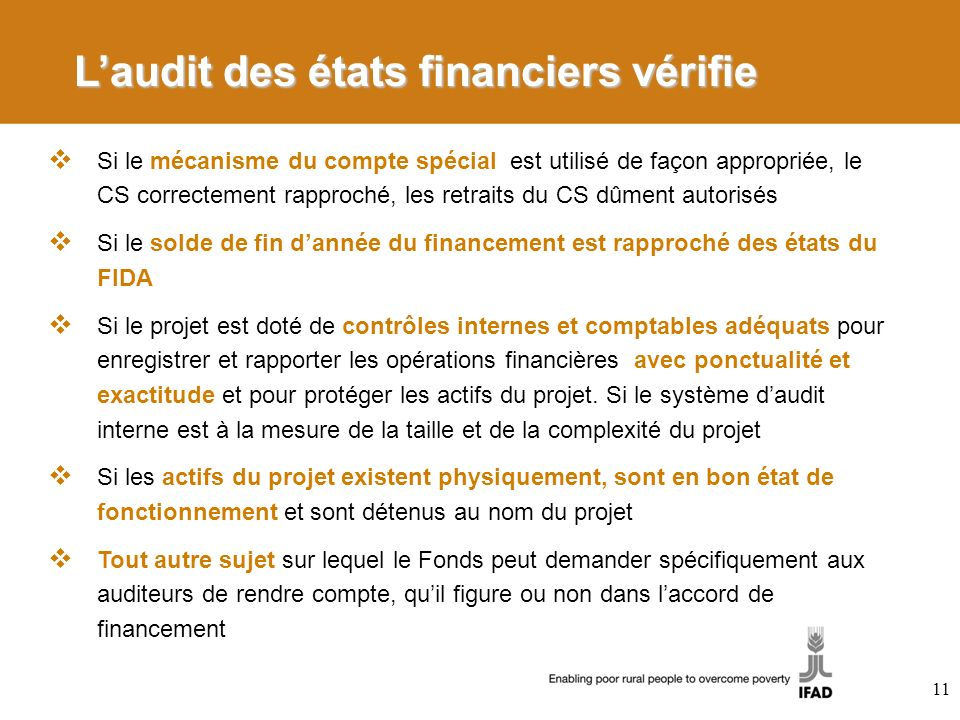 L'audit des états financiers vérifie
