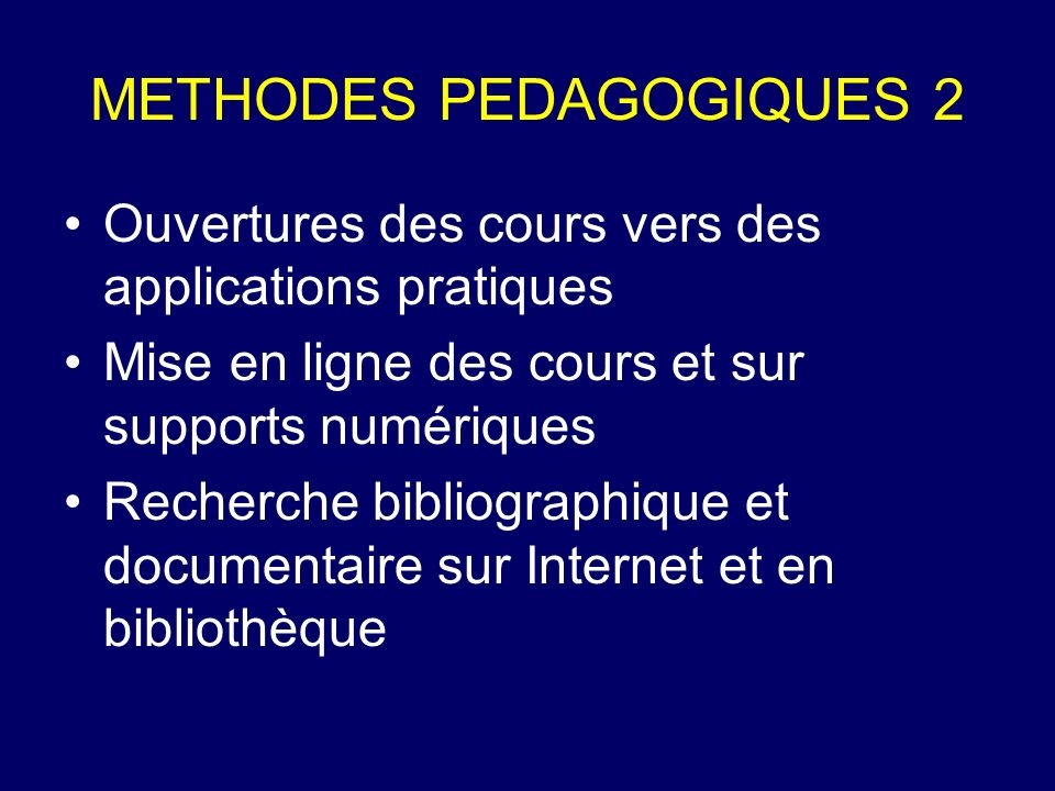 METHODES PEDAGOGIQUES 2