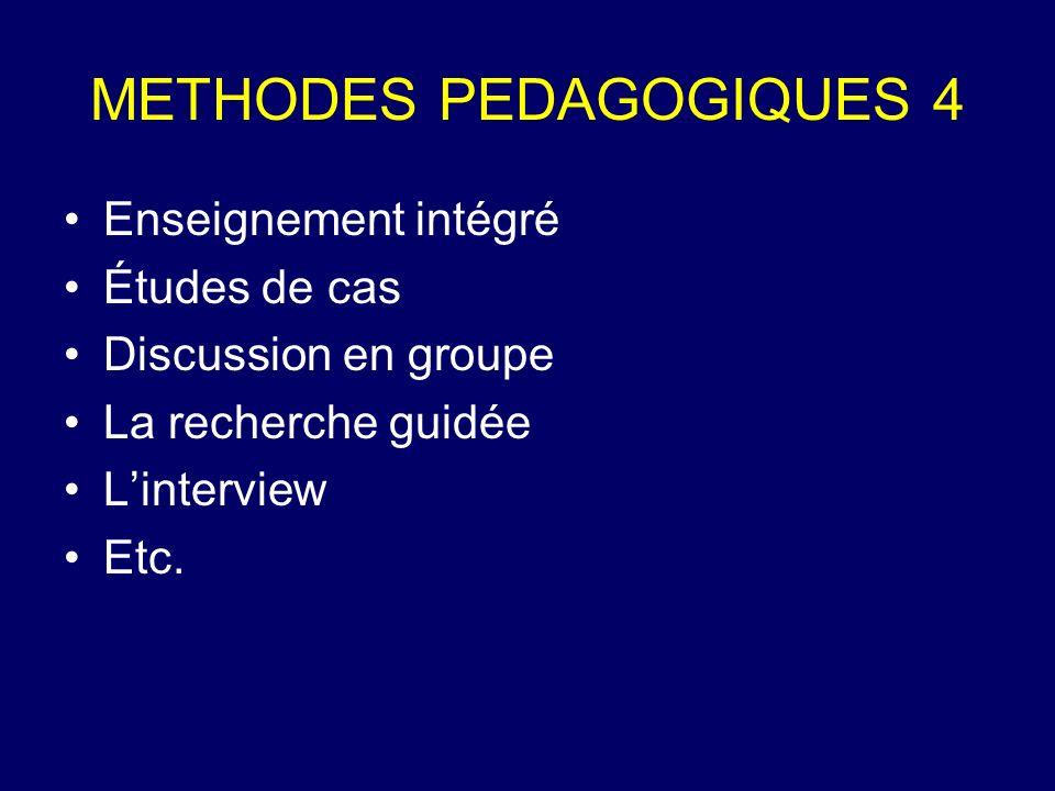 METHODES PEDAGOGIQUES 4