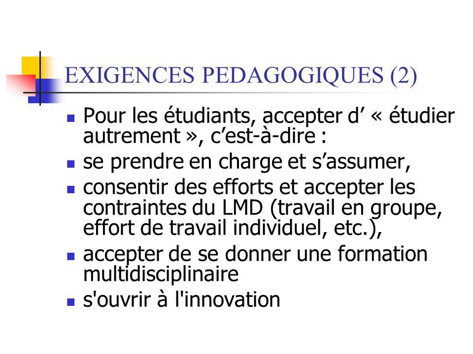 EXIGENCES PEDAGOGIQUES (2)