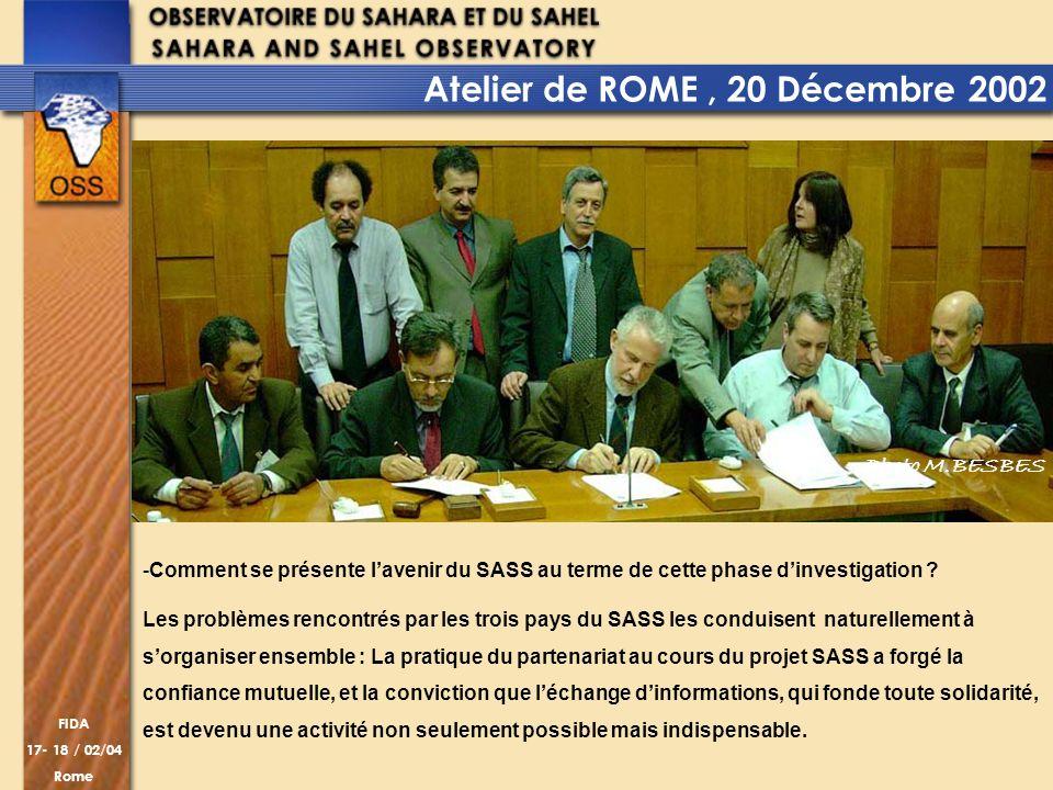 Atelier de ROME , 20 Décembre 2002