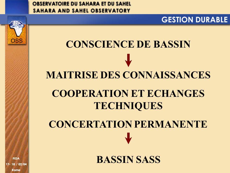 MAITRISE DES CONNAISSANCES COOPERATION ET ECHANGES TECHNIQUES
