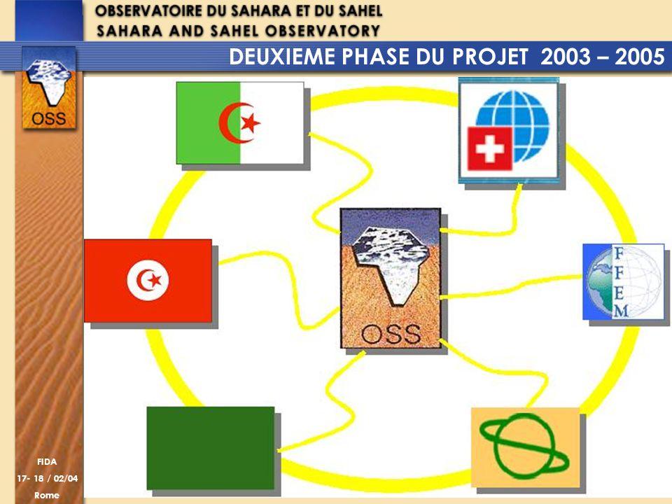 DEUXIEME PHASE DU PROJET 2003 – 2005