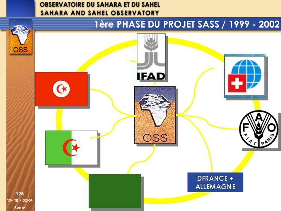 1ère PHASE DU PROJET SASS / 1999 - 2002