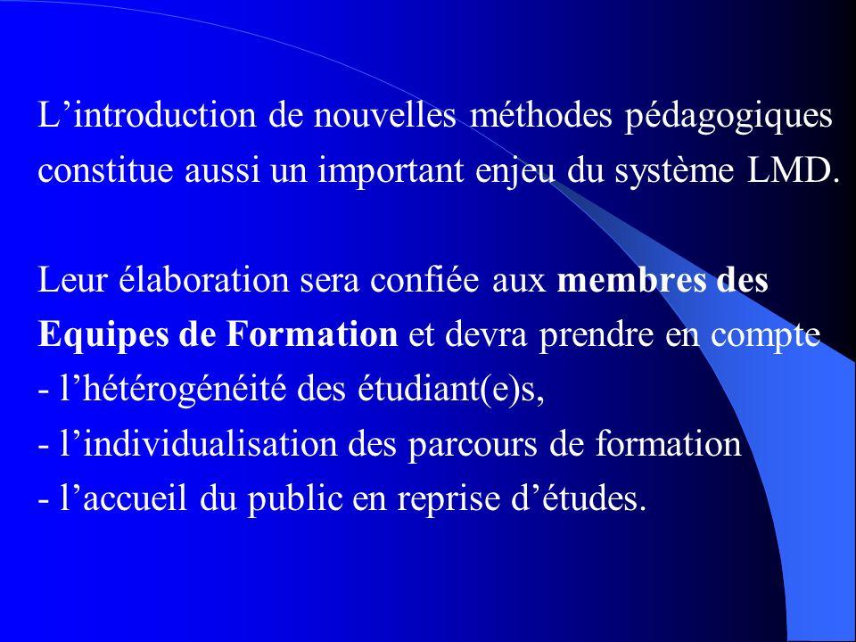L'introduction de nouvelles méthodes pédagogiques