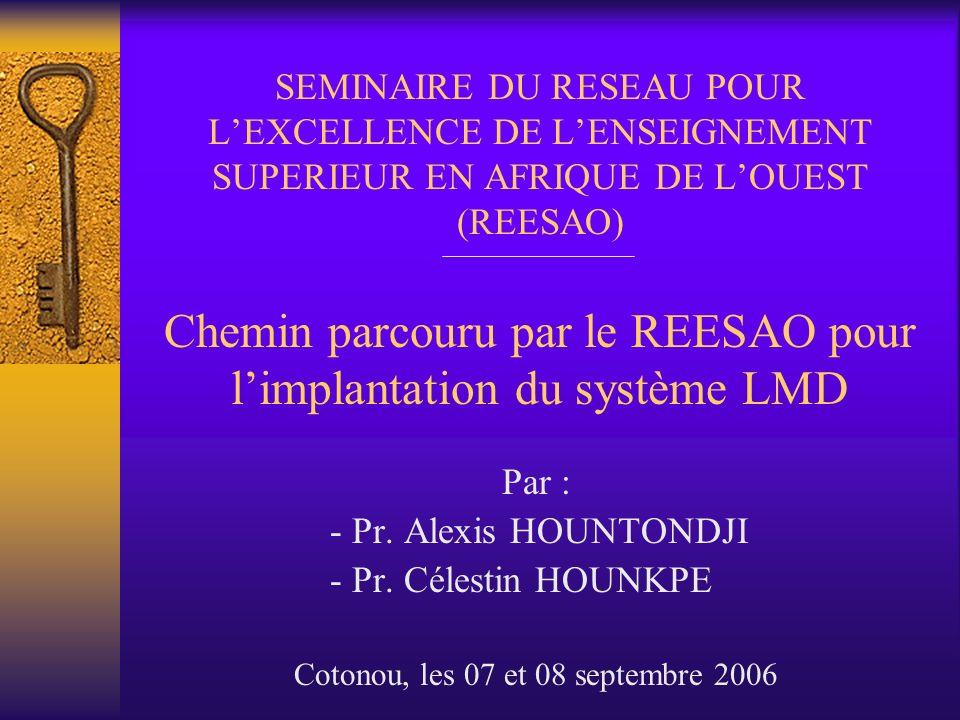 Cotonou, les 07 et 08 septembre 2006