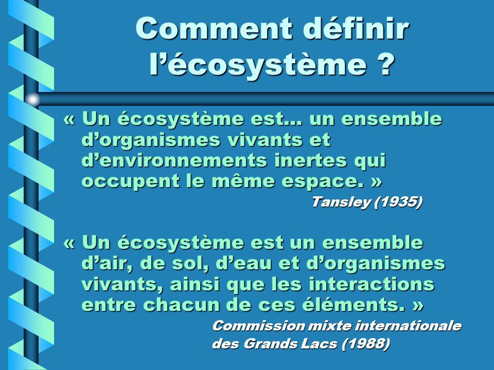 Comment définir l'écosystème