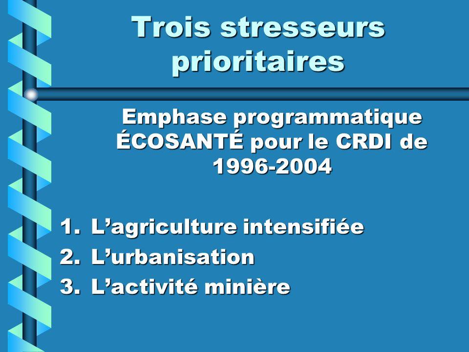 Trois stresseurs prioritaires