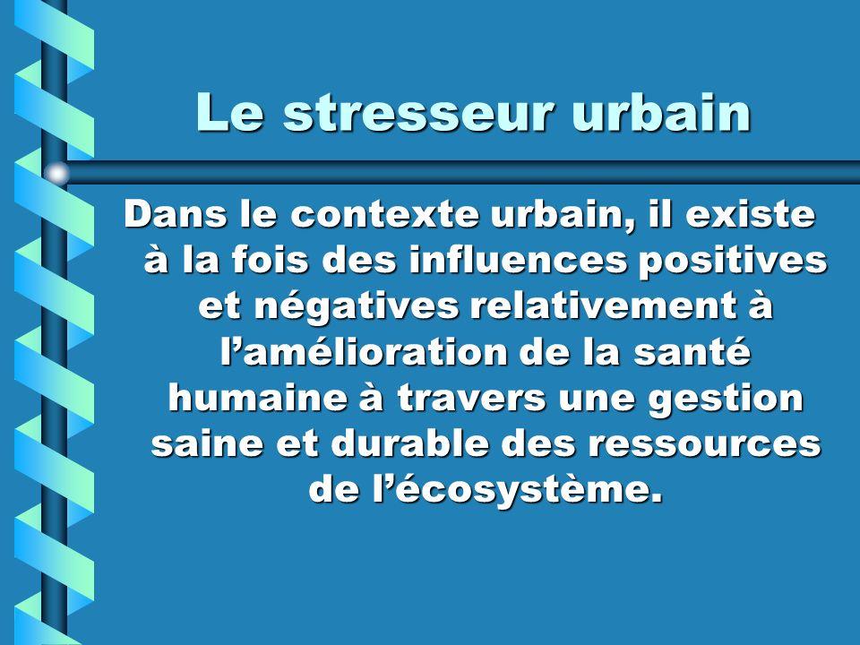 Le stresseur urbain