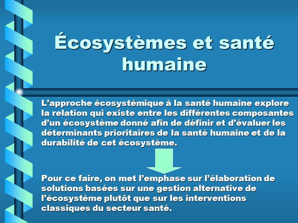 Écosystèmes et santé humaine