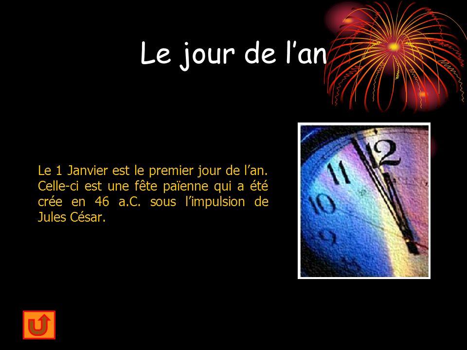 Le jour de l'an Le 1 Janvier est le premier jour de l'an.