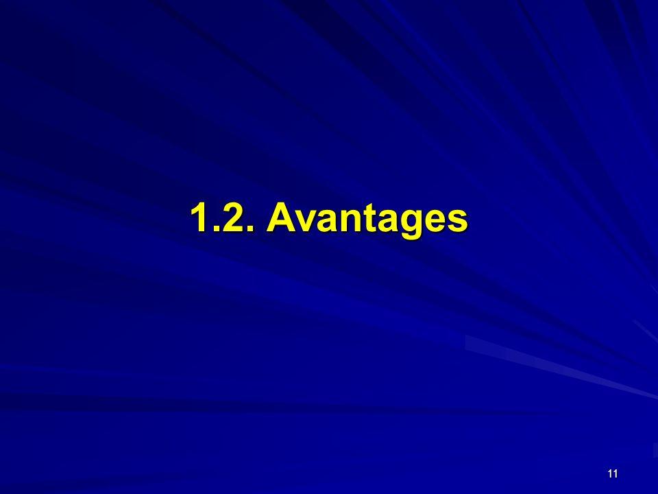 1.2. Avantages