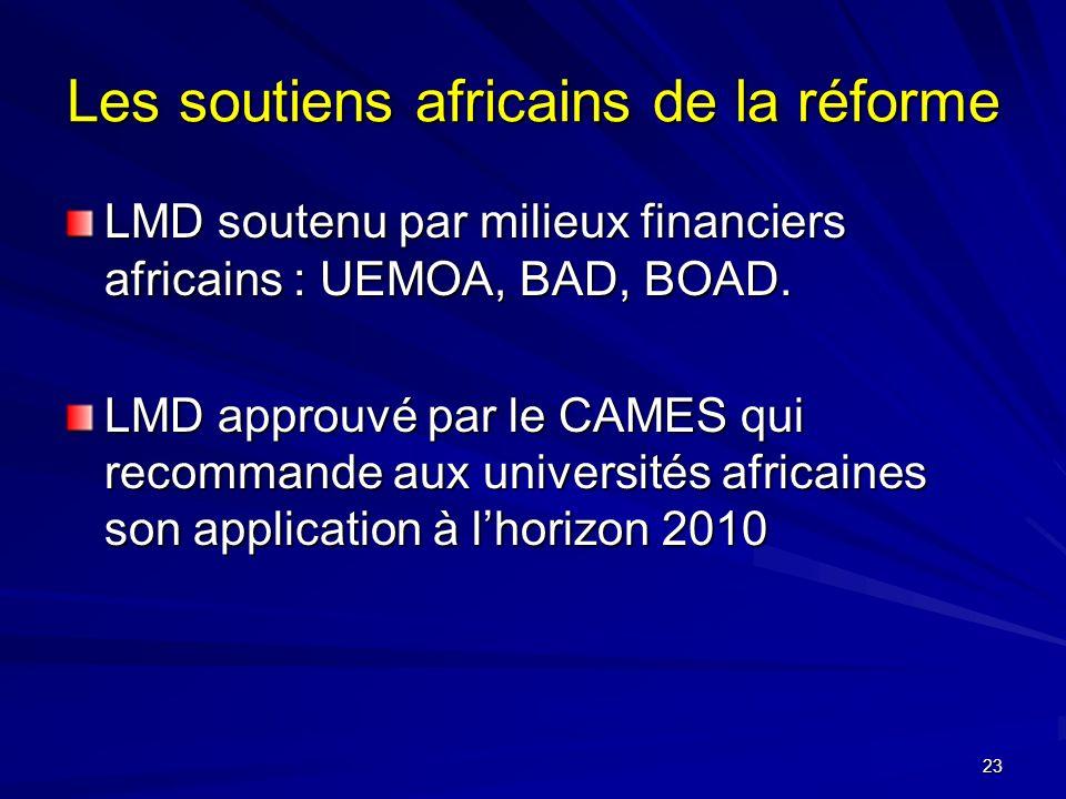 Les soutiens africains de la réforme