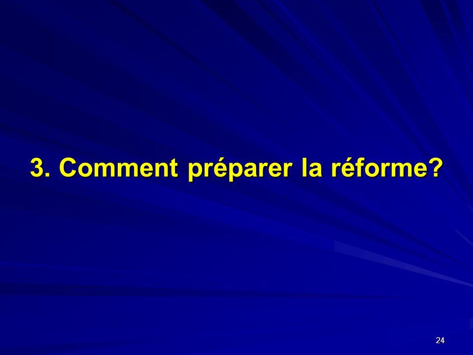 3. Comment préparer la réforme