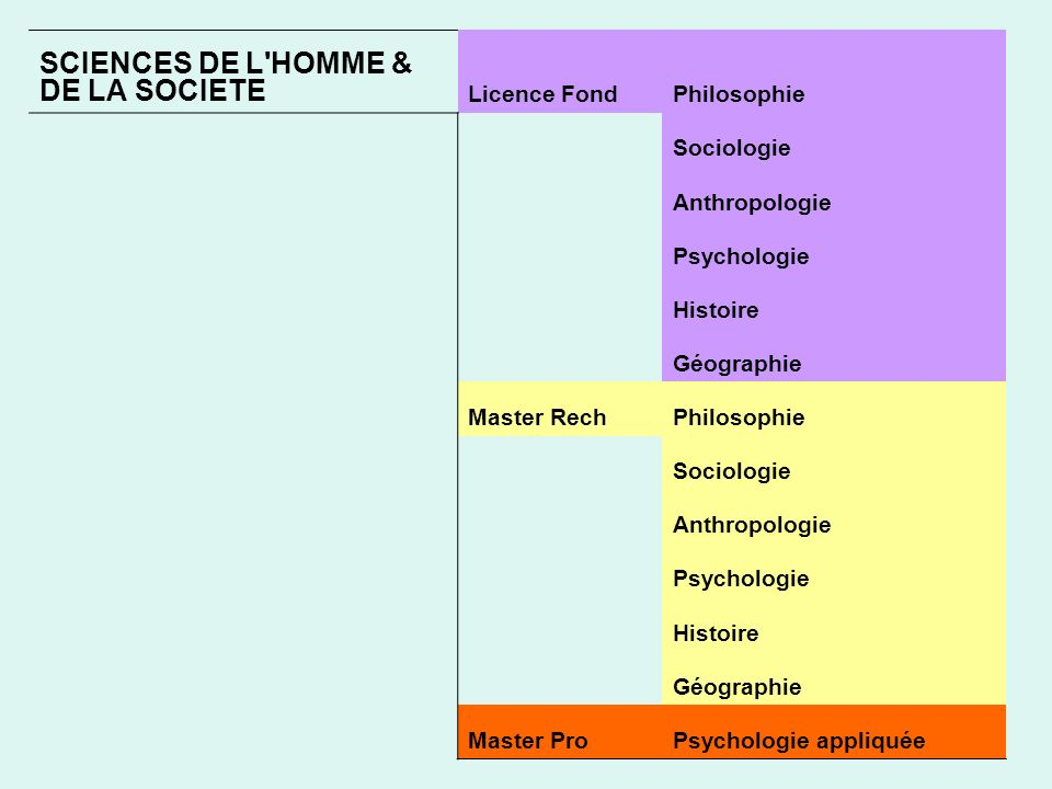 SCIENCES DE L HOMME & DE LA SOCIETE
