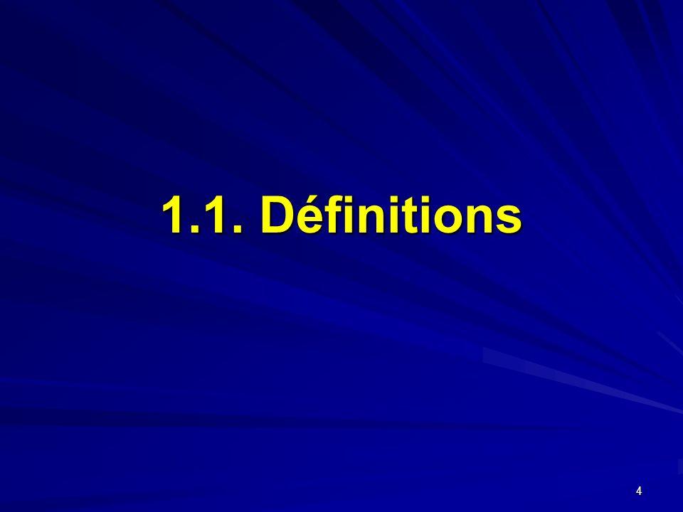 1.1. Définitions