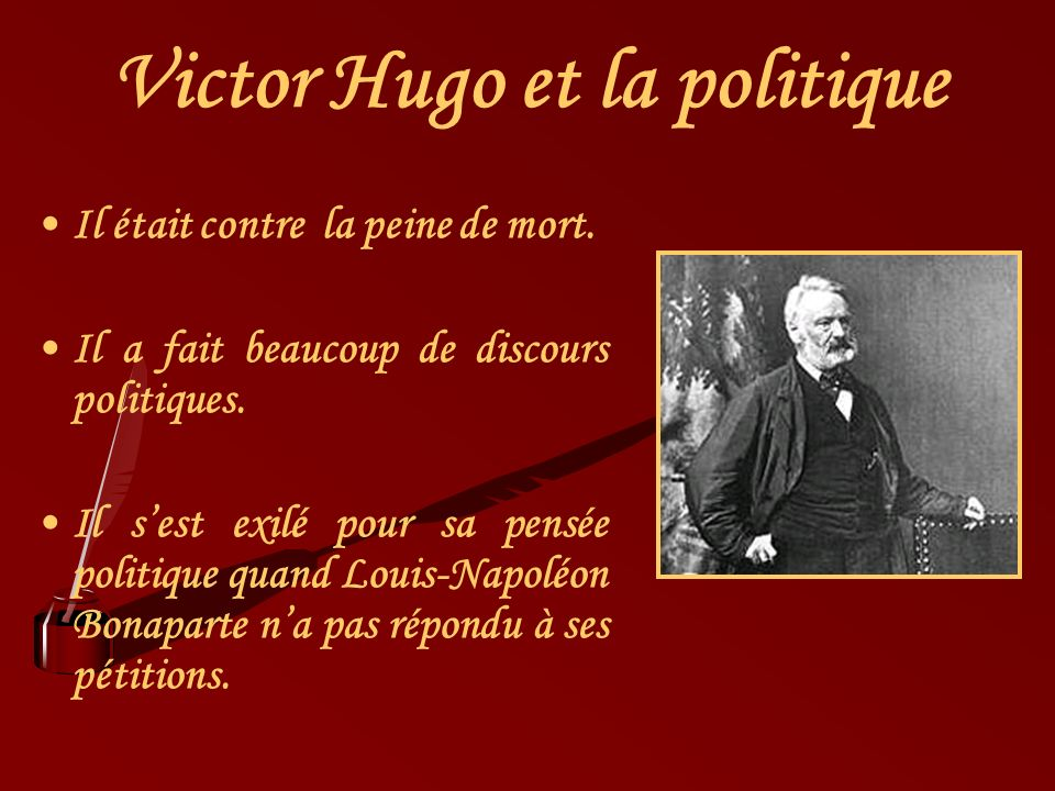 Victor Hugo et la politique