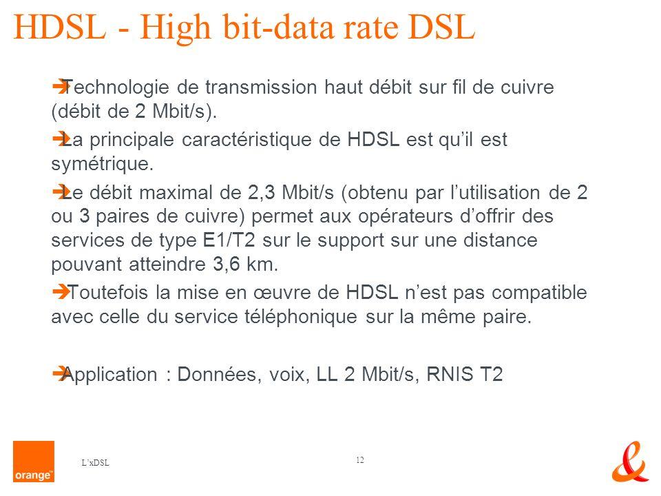 HDSL - High bit-data rate DSL