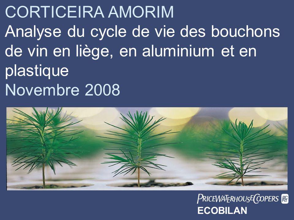 CORTICEIRA AMORIM Date. Analyse du cycle de vie des bouchons de vin en liège, en aluminium et en plastique.