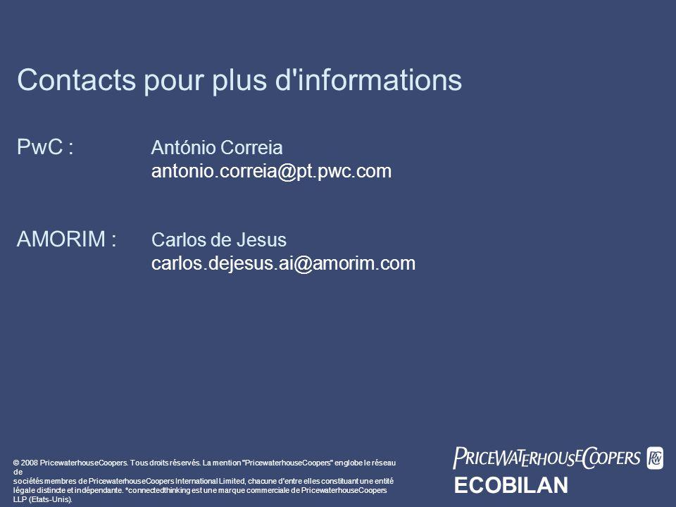 Contacts pour plus d informations