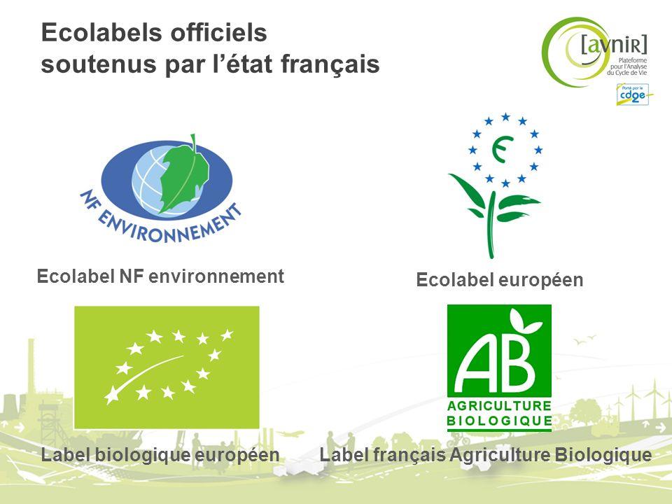 Ecolabels officiels soutenus par l'état français