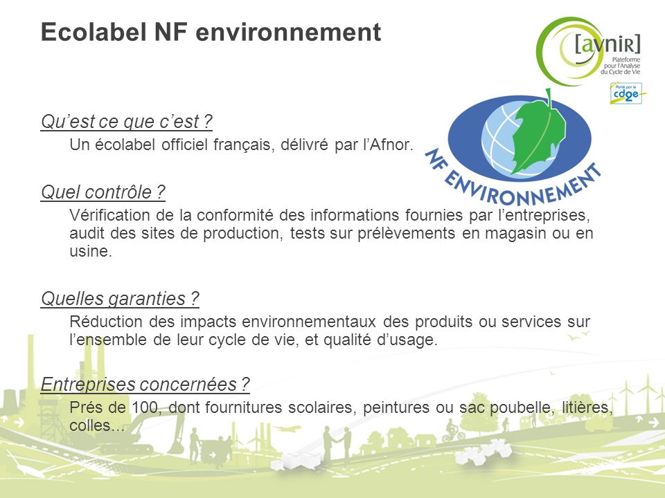 Ecolabel NF environnement