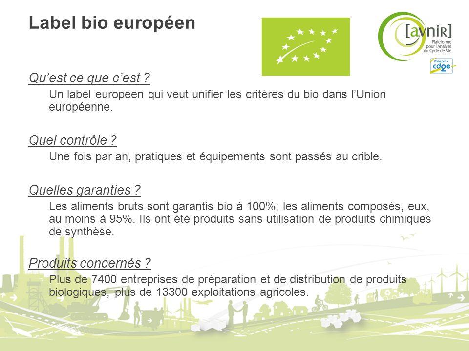 Label bio européen Qu'est ce que c'est Quel contrôle