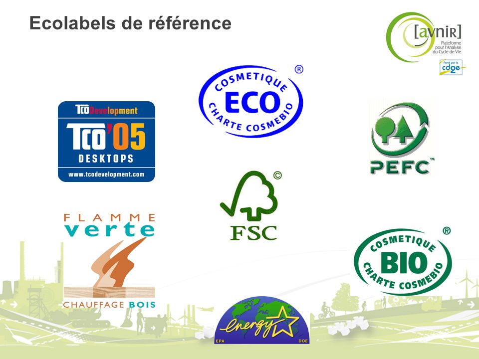 Ecolabels de référence