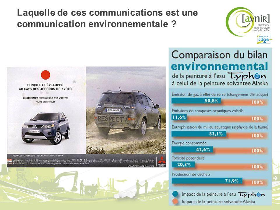 Laquelle de ces communications est une communication environnementale