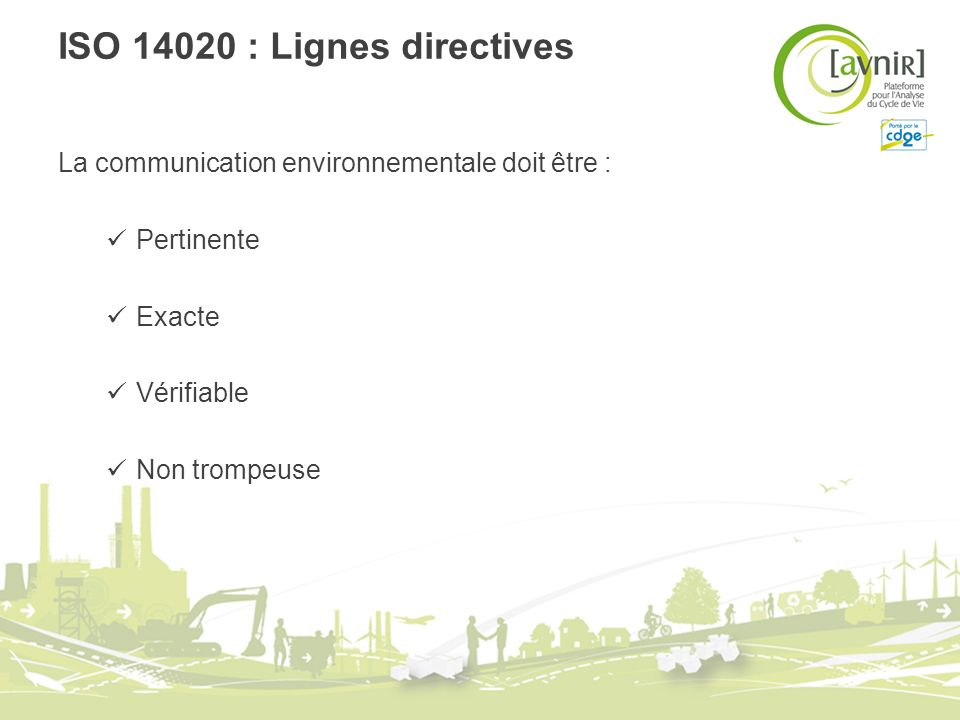 ISO 14020 : Lignes directives