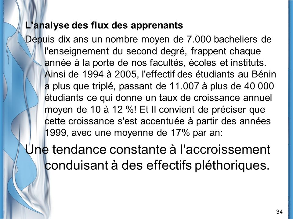 L analyse des flux des apprenants