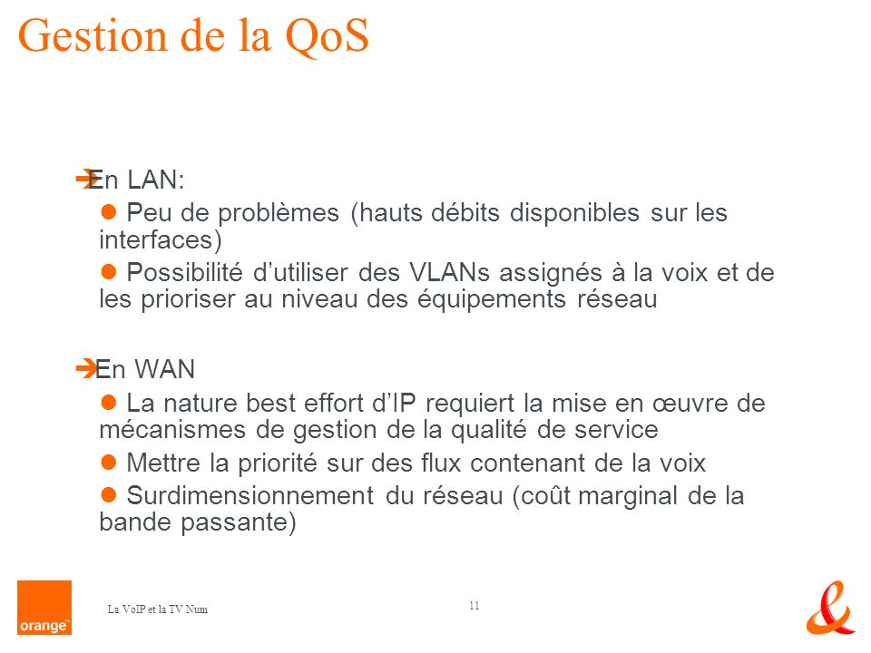Gestion de la QoS En LAN:
