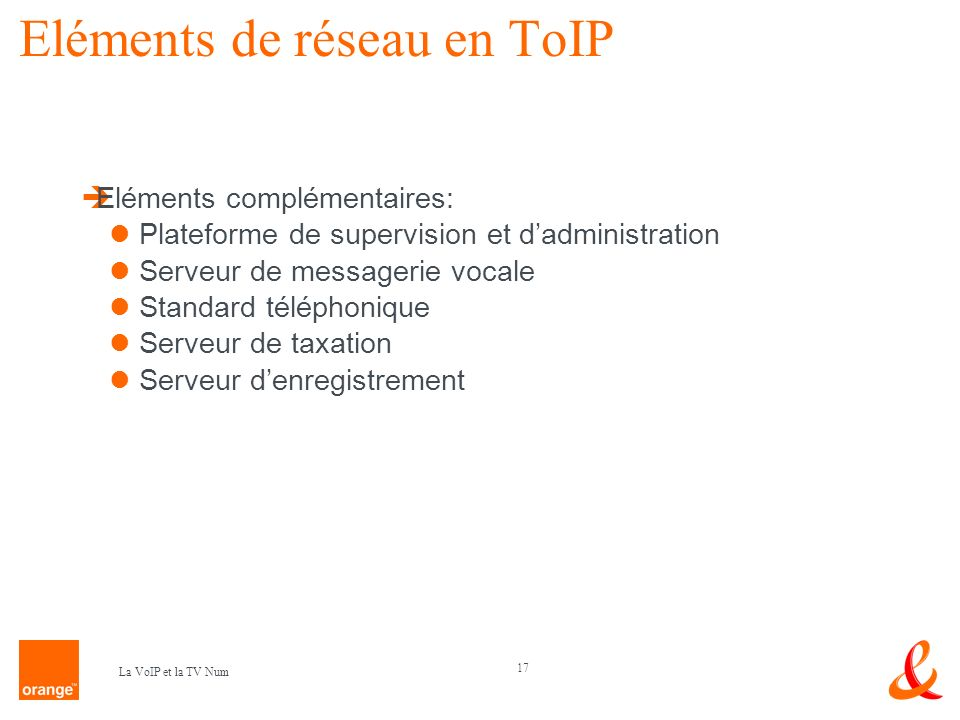 Eléments de réseau en ToIP