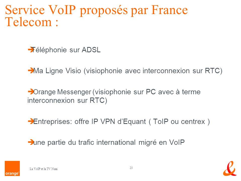 Service VoIP proposés par France Telecom :