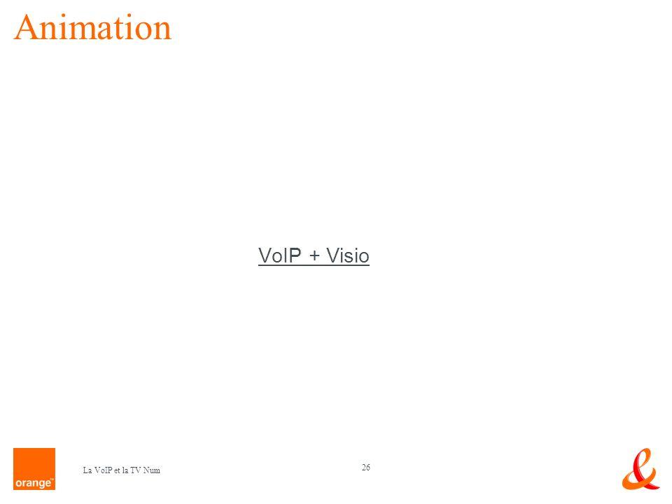 Animation VoIP + Visio La VoIP et la TV Num