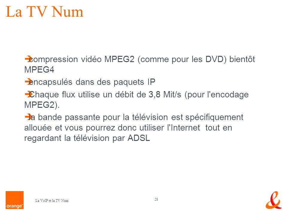 La TV Num compression vidéo MPEG2 (comme pour les DVD) bientôt MPEG4