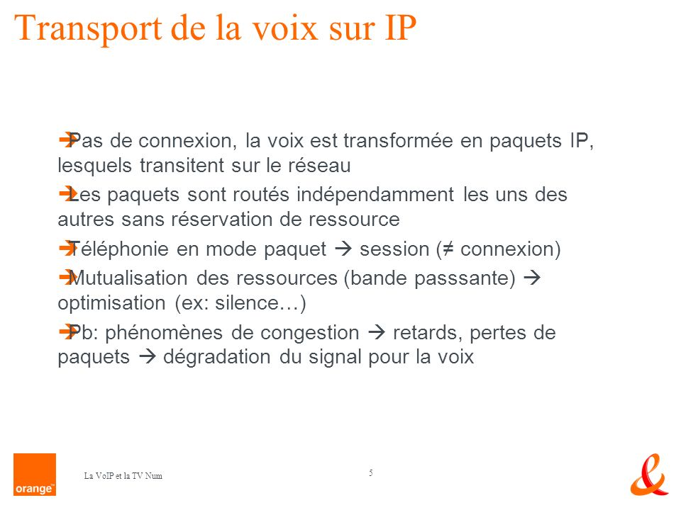 Transport de la voix sur IP