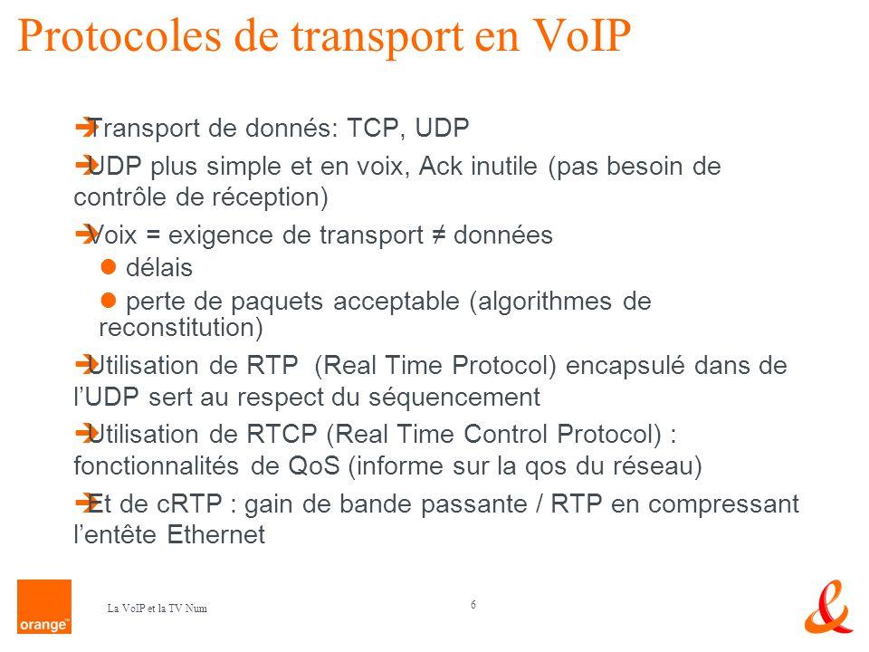 Protocoles de transport en VoIP
