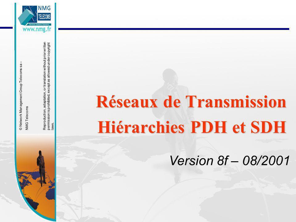 Réseaux de Transmission Hiérarchies PDH et SDH