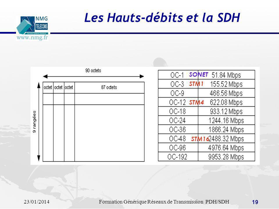 Les Hauts-débits et la SDH