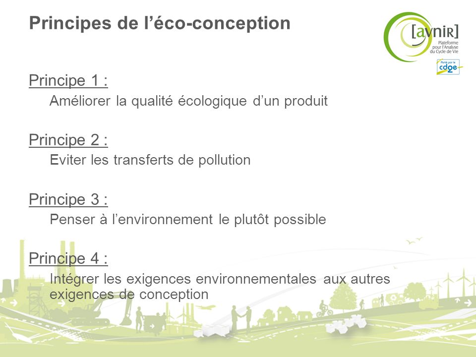 Principes de l'éco-conception