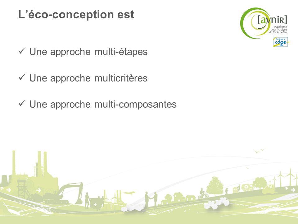 L'éco-conception est Une approche multi-étapes