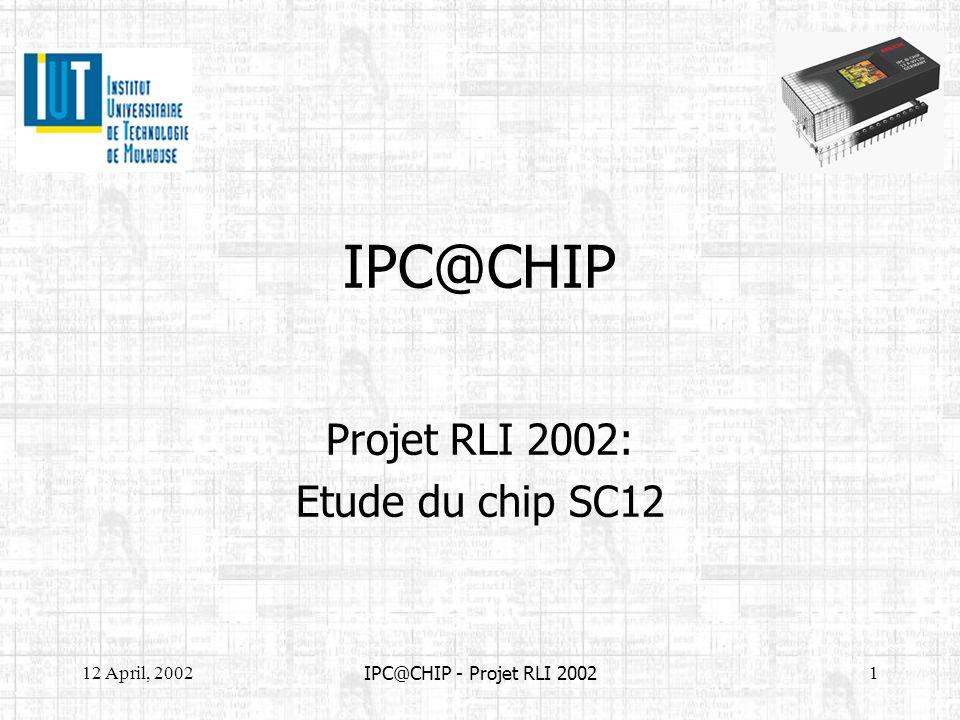 Projet RLI 2002: Etude du chip SC12