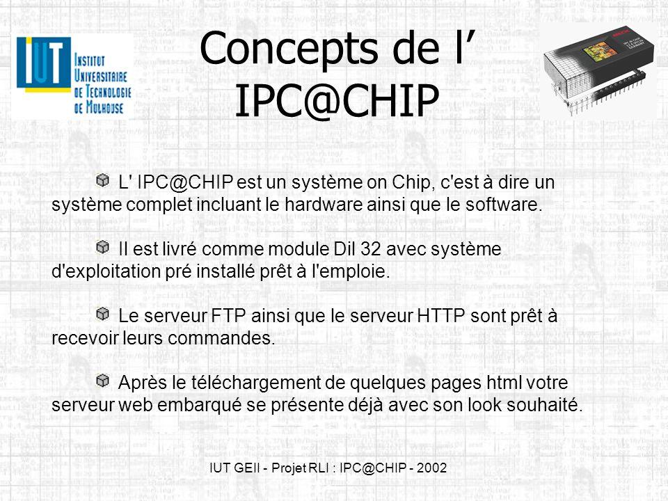 Concepts de l' IPC@CHIP