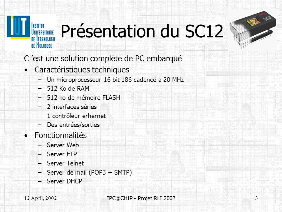 Présentation du SC12 C 'est une solution complète de PC embarqué