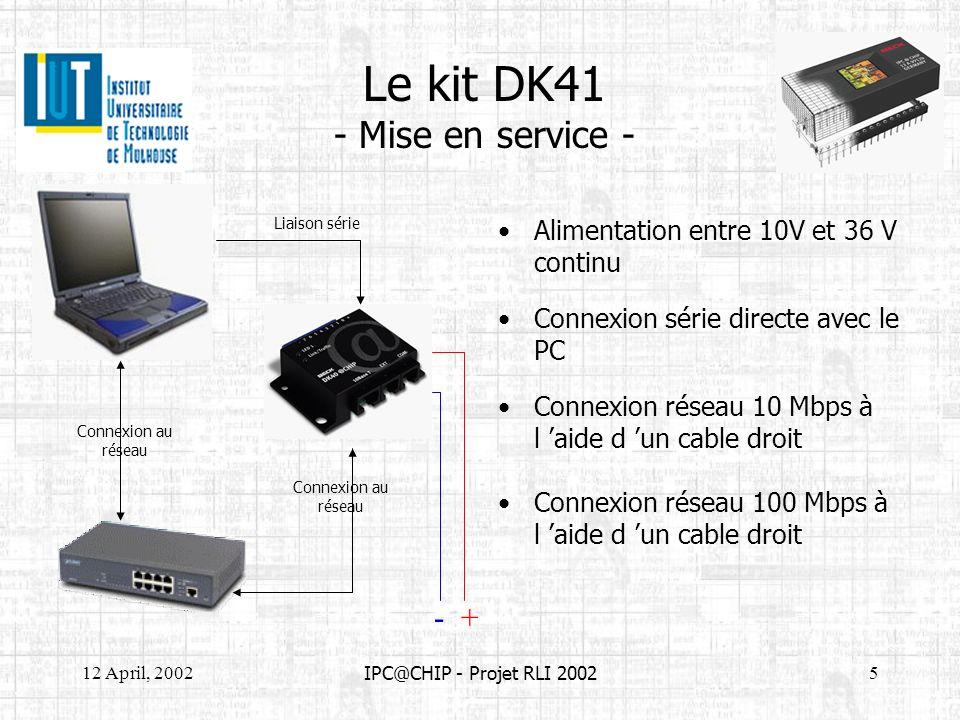 Le kit DK41 - Mise en service -