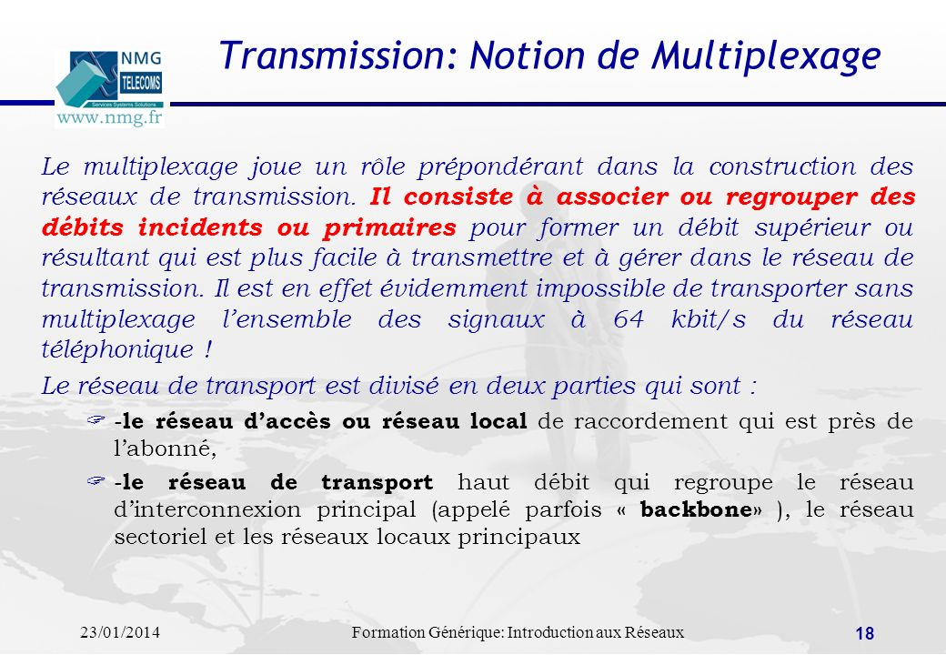 Transmission: Notion de Multiplexage