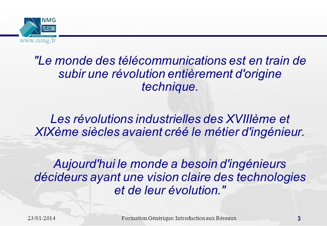 Le monde des télécommunications est en train de subir une révolution entièrement d origine technique.