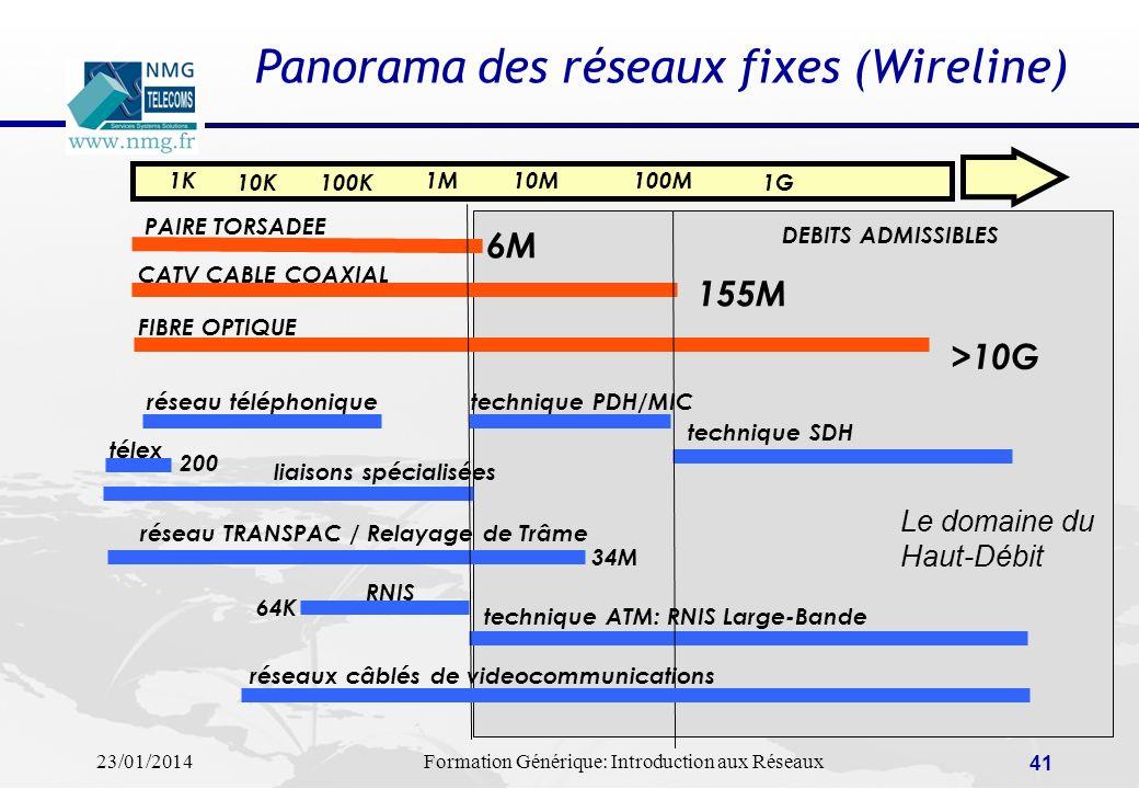 Panorama des réseaux fixes (Wireline)