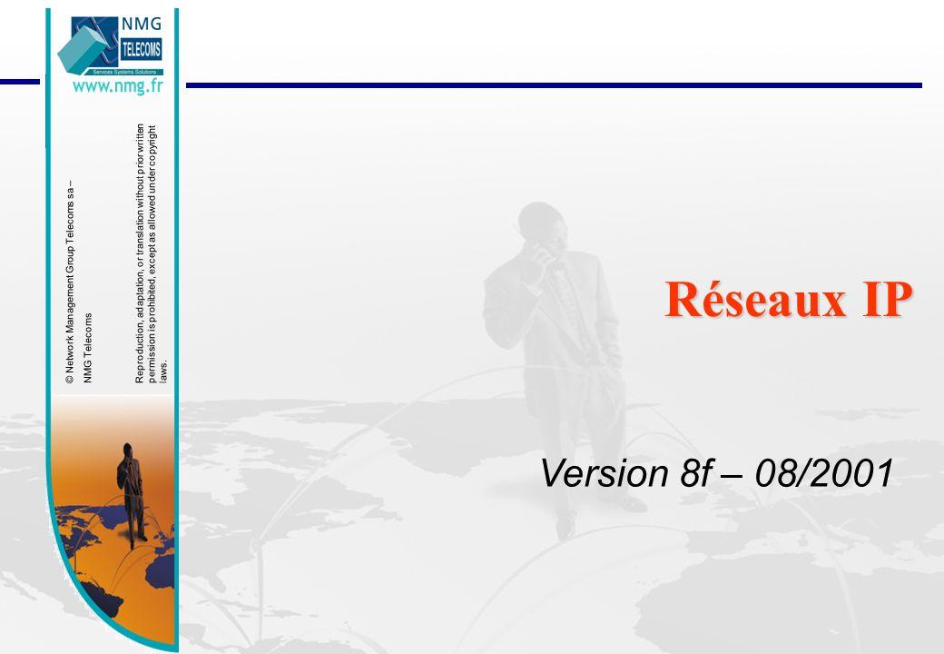 Réseaux IP Version 8f – 08/2001